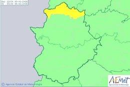Alerta meteorológica en el norte de Cáceres