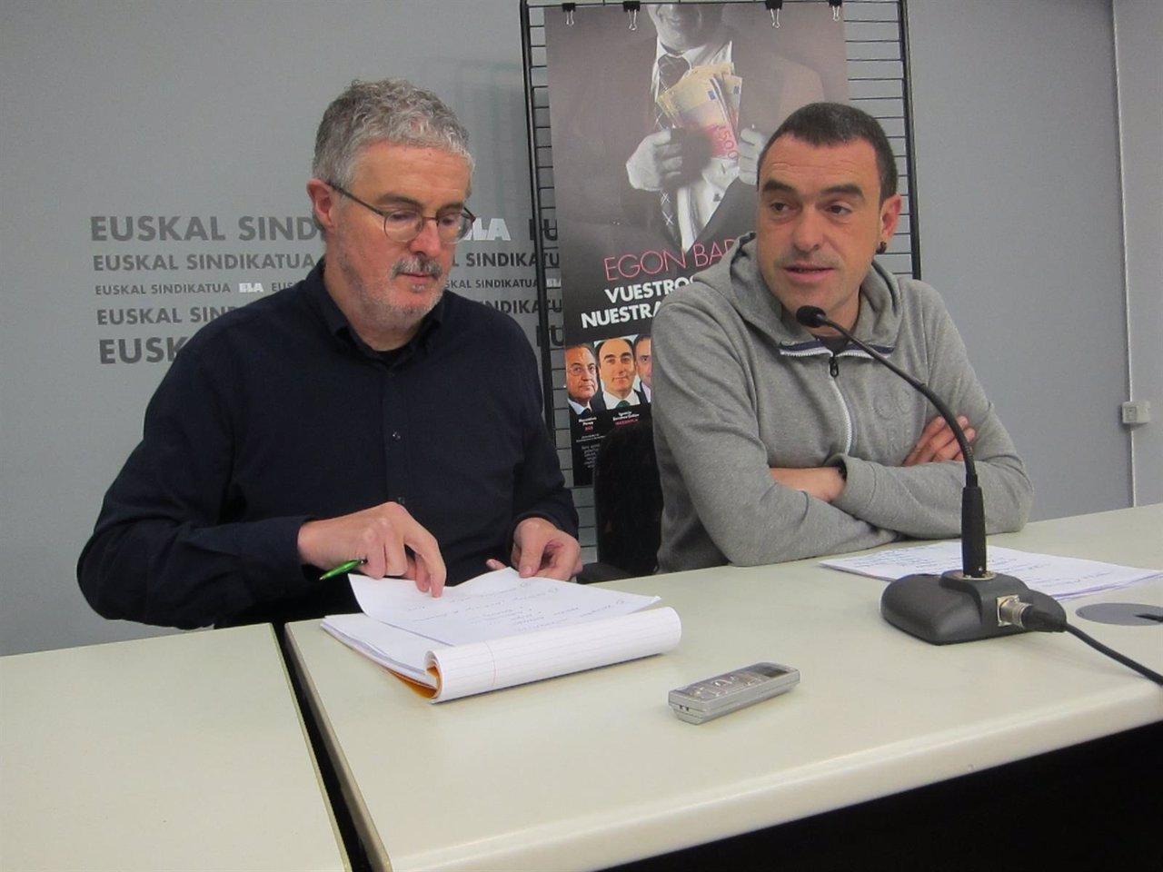Adolfo Muñoz, junto a Joseba Villarreal.