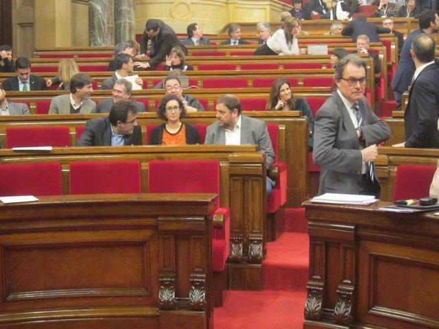 Artur Mas y Oriol Junqueras (Archivo)