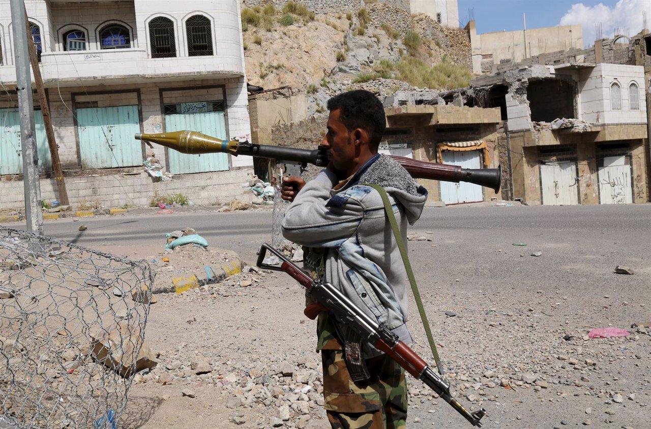 Miembro de fuerzas opositoras en Yemen