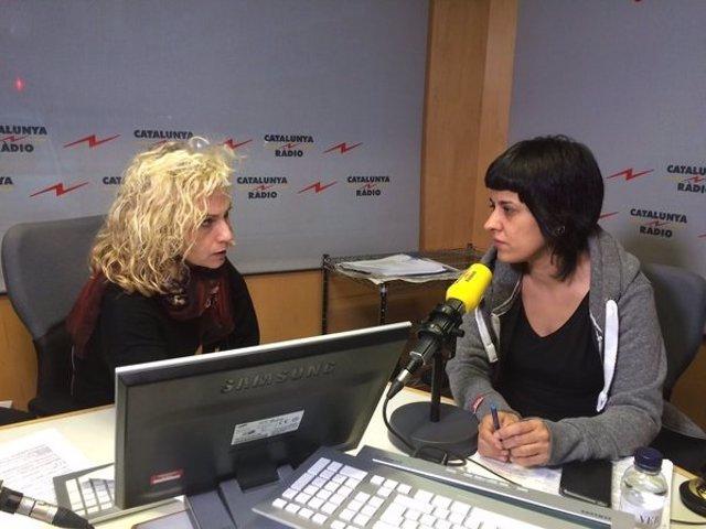 Diputada de la CUP en el Parlament, Anna Gabriel, en Catalunya Ràdio