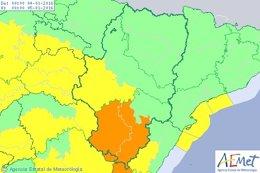 Aviso amarillo por viento en Zaragoza y naranja en Teruel