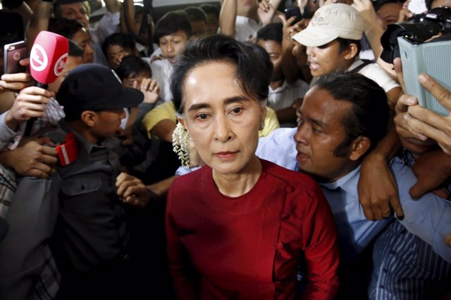 Aung San Suu Kyi en la elecciones de Birmania