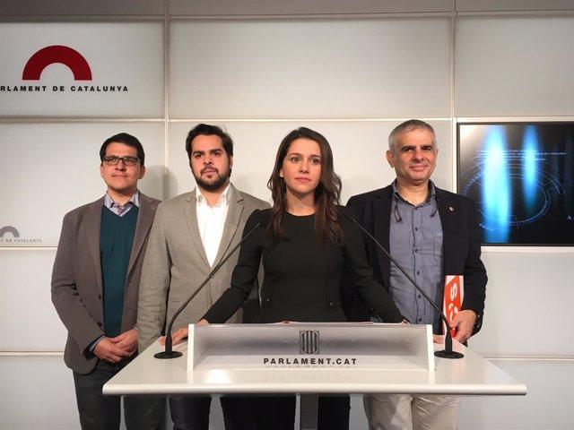 José María Espejo, Fernando de Páramo, Inés Arrimadas y Carlos Carrizosa, C's