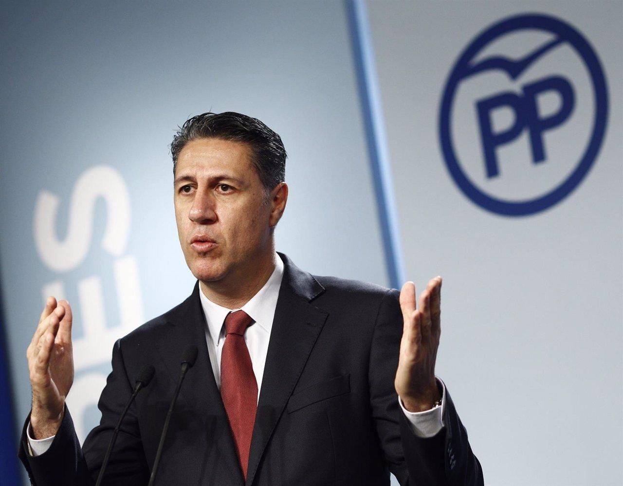 Xavier García Albiol en la sede del PP