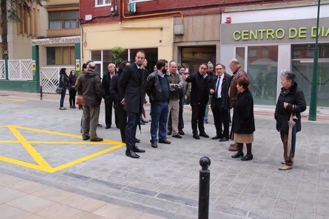 Visita a la calle Julián Urbina