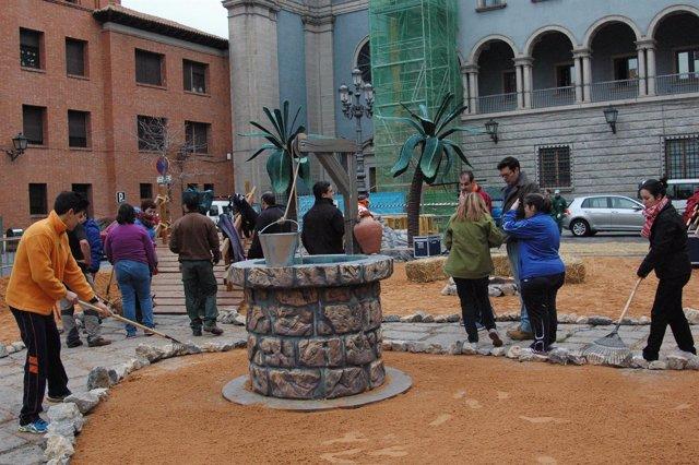 Recreación en Teruel de la aldea de Belén