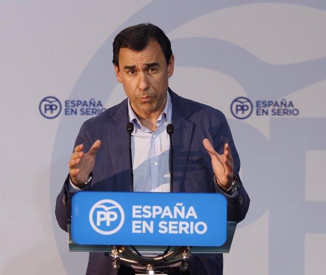 Rueda de prensa de Fernando Martínez-Maíllo en la sede del PP