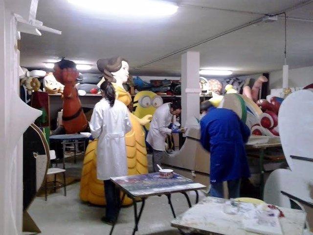 Preparación de la Cabalgata de Reyes en Montefrío