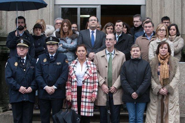 Concentracion de condena pola ultima vitima da violencia de xenero en galicia