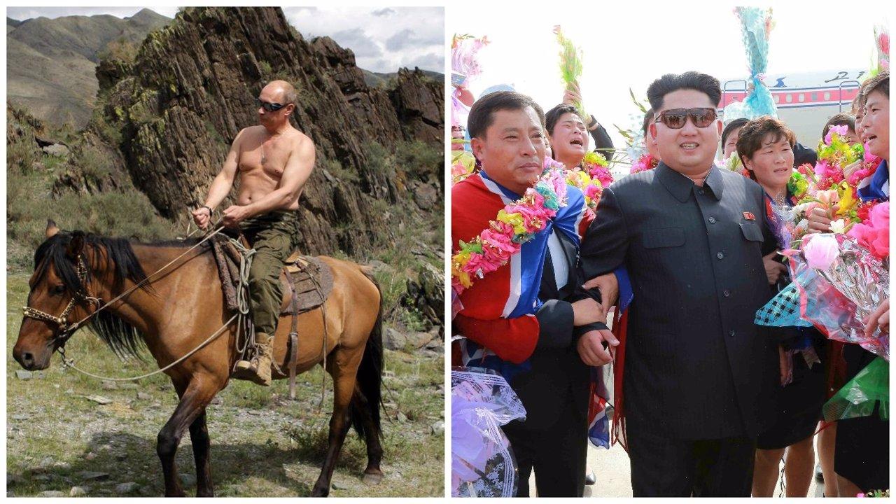Kim Jong Un y Vladimir Putin, líderes virales