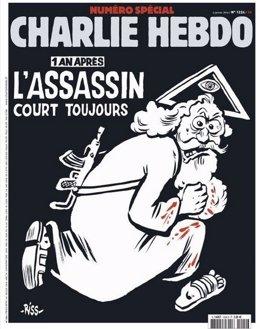 Portada del aniversario del atentado contra la revista satírica 'Charlie Hebdo'