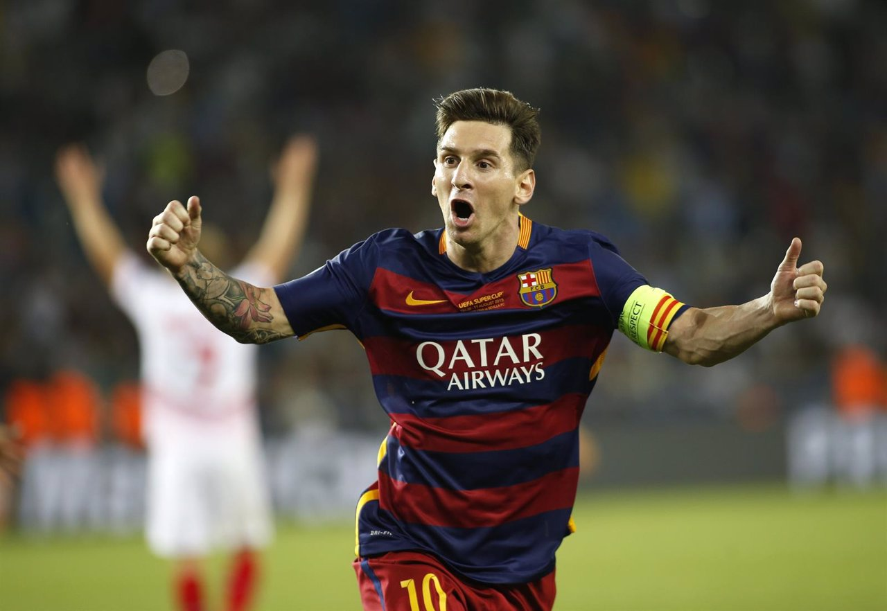 Barcelona Leo Messi Supercopa Europa