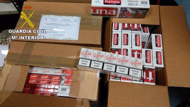 El tabaco para contrabando incautado en el aeropuerto de Lanzarote