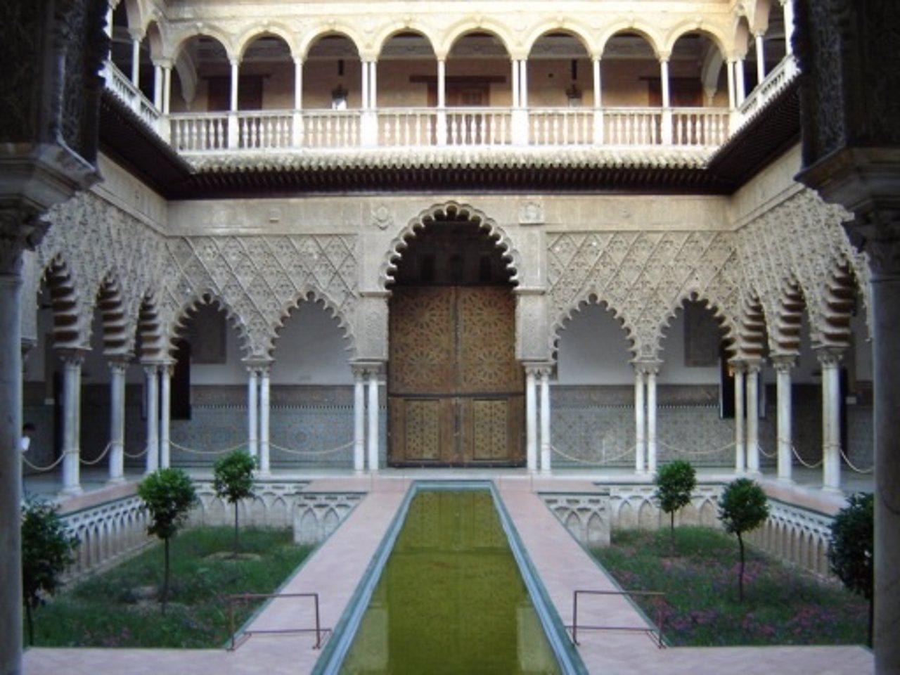 El patio de las Doncellas, en el Alcázar.