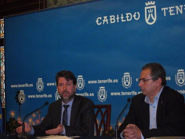 Carlos Alonso junto a José Luis Delgado
