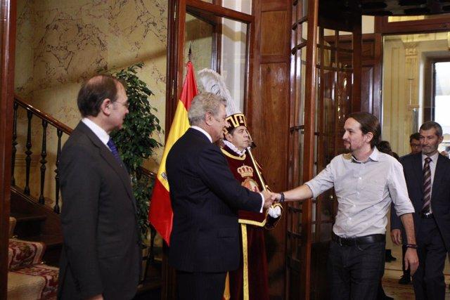 Congreso de los diputados, Pablo Iglesias, Posada, Día de la Constitución