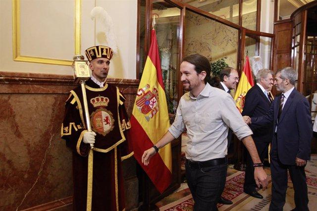 Pablo Iglesias en el Congreso de los Diputados Día de la Constitución