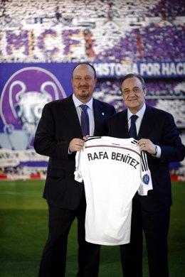 Florentino Pérez presenta a Rafa Benítez