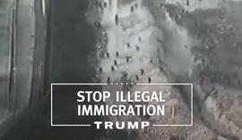 Trump utiliza imágenes de un salto a la valla de Melilla para ilustrar la frontera con México