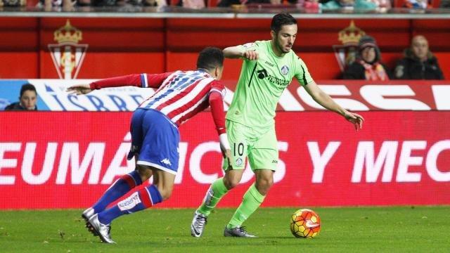 Sarabia en el Sporting Gijón - Getafe