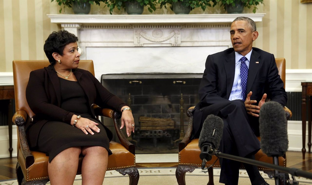 Obama y la fiscal general de Estados Unidos, Loretta Lynch