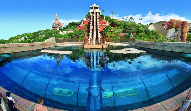 Una de las atracciones del Siam Park de Tenerife