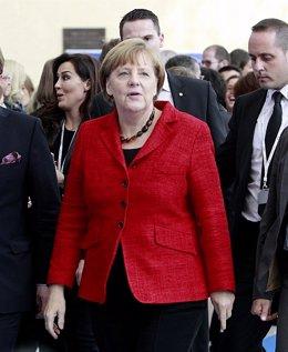 Angela Merkel en el Congreso del Partido Popular Europeo