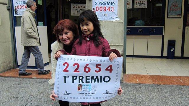 Primer premio de la Lotería del Niño 2016 vendido en Zaragoza