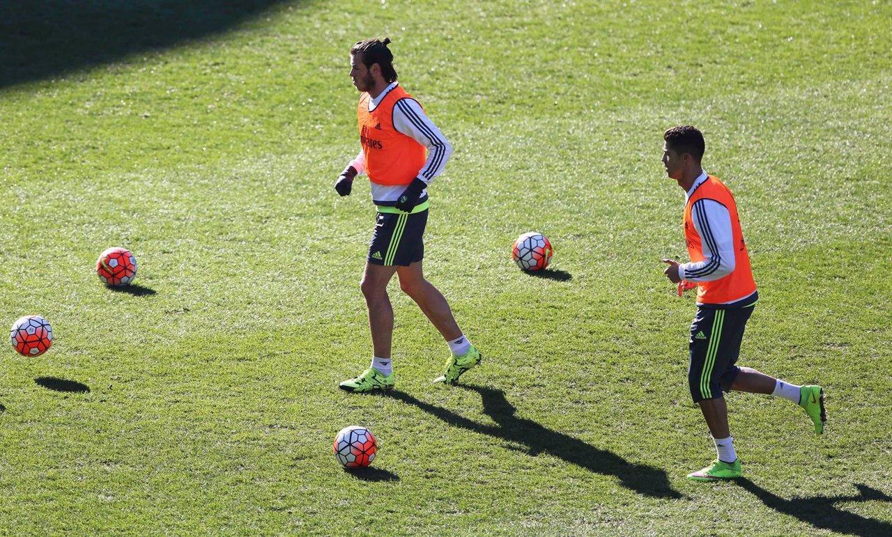 Entrenamiento Real Madrid Bale Cristiano Ronaldo