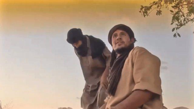 Imagen del video difundido por Al Qaeda en el Magreb Islámico