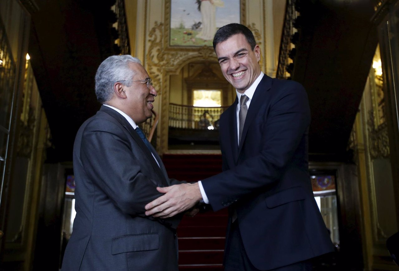 Pedro Sánchez y el primer ministro de Portugal Antonio Costa