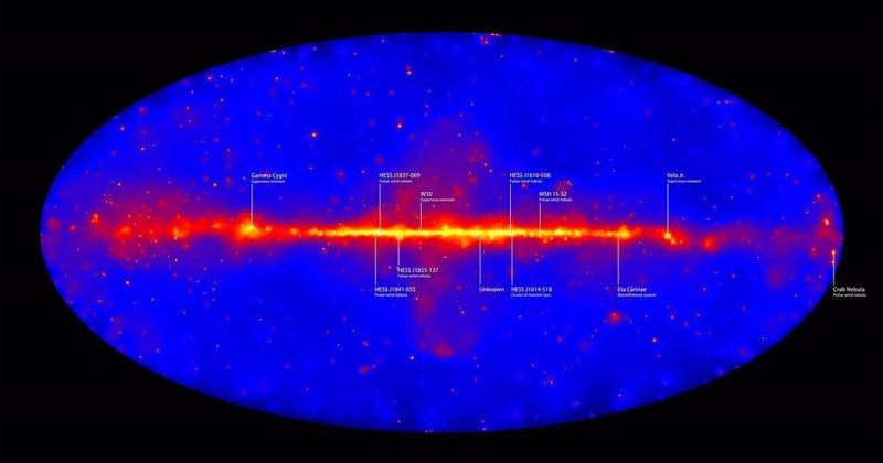 VÍDEO El mejor mapa cósmico de rayos gamma de alta energía