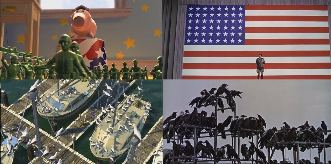 Miniaturas de planos que riman en las películas de Pixar