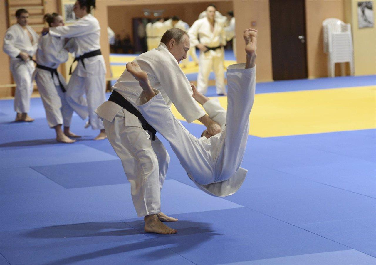 Vladimir Putin, Presidente de Rusia, hace judo en Sochi
