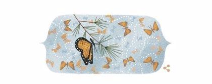 Google dedica su 'doodle' a la Mariposa Monarca