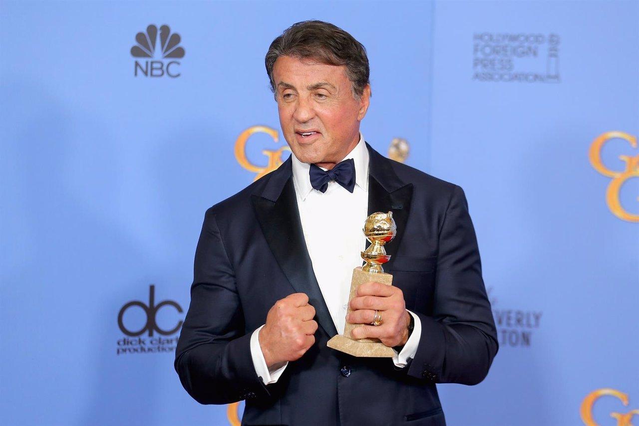 Sylvester Stallone en los Globos de Oro