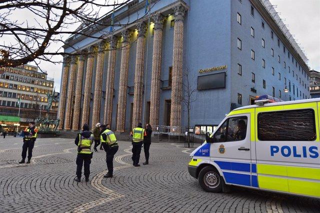 Agentes de la Policía sueca