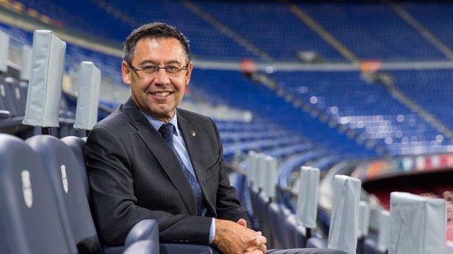 Josep Maria Bartomeu, presidente del FC Barcelona en el Camp Nou