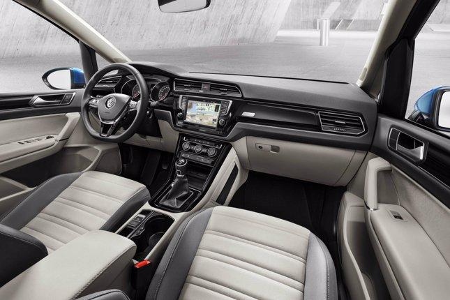 Interior del nuevo Volkswagen Touran