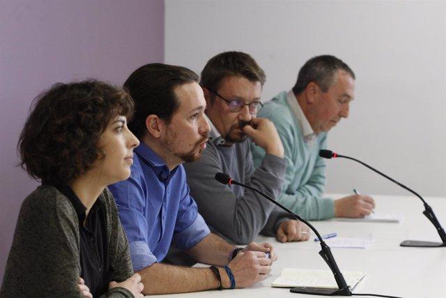 Pablo Iglesias se reúne con En Comú Podem, Compromís es el moment y En Marea