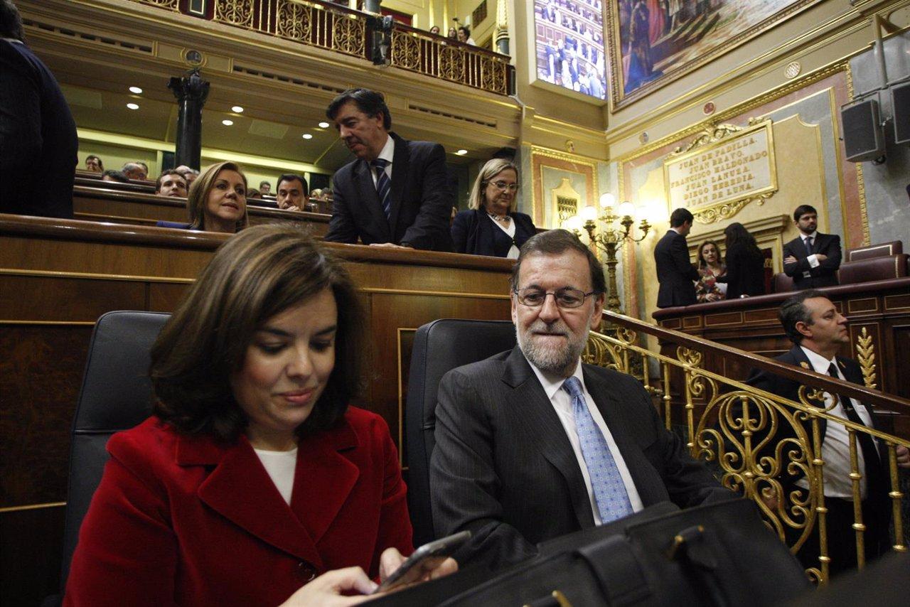 Santamaría y Rajoy