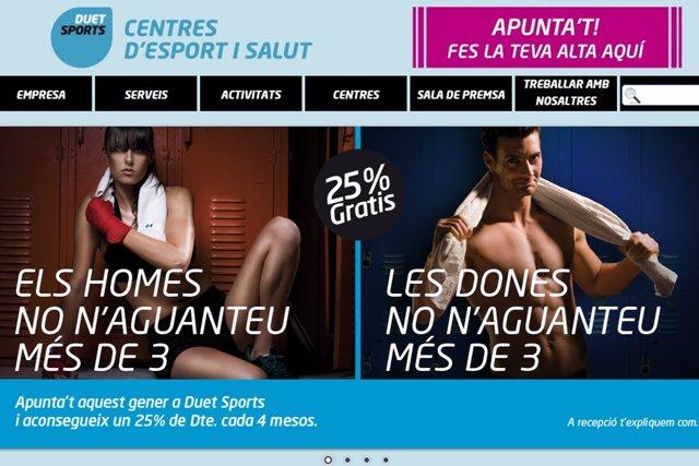 Imagen del cartel publicitario del gimnasio de Rubí