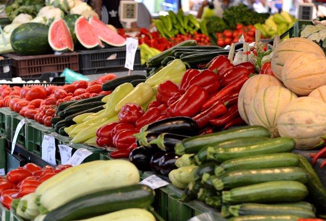 Mercado supermercado compras verduras frutas fruta verdura sano