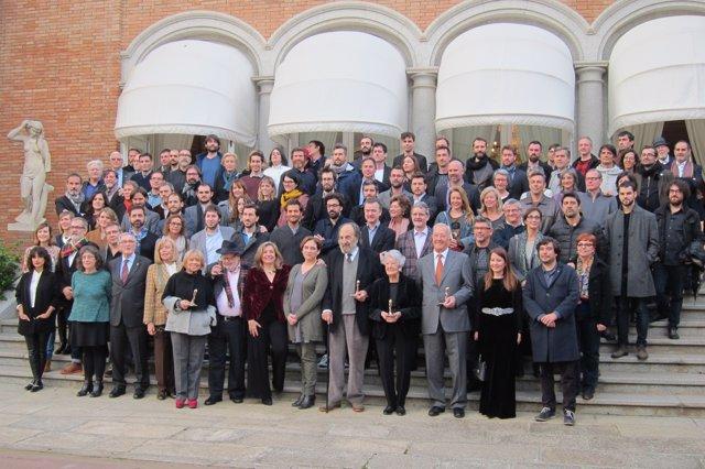 Foto de familia de los nominados a los premios Gaudí