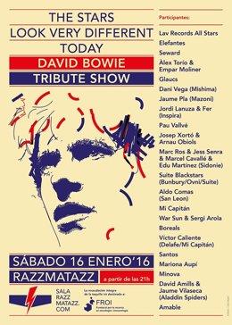 Cartel del tributo a David Bowie en Razzmatazz