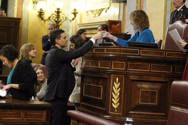 Pedro Sánchez en la constitución del Congreso