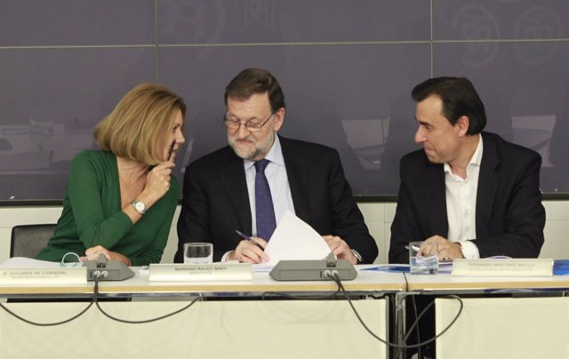 Rajoy, Cospedal y Fernández Martínez en el Comité Ejecutivo Nacional del PP
