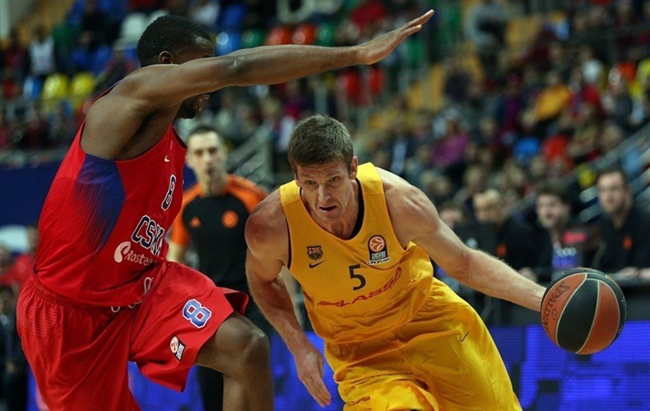 Justin Doellman en un partido ante el CSKA