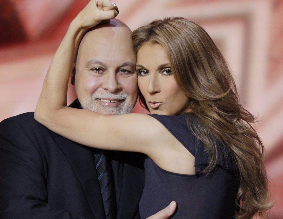 Celine Dion Posa Con Su Marido René